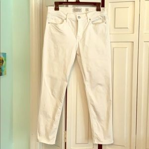 Lucky crop white jeans size 8